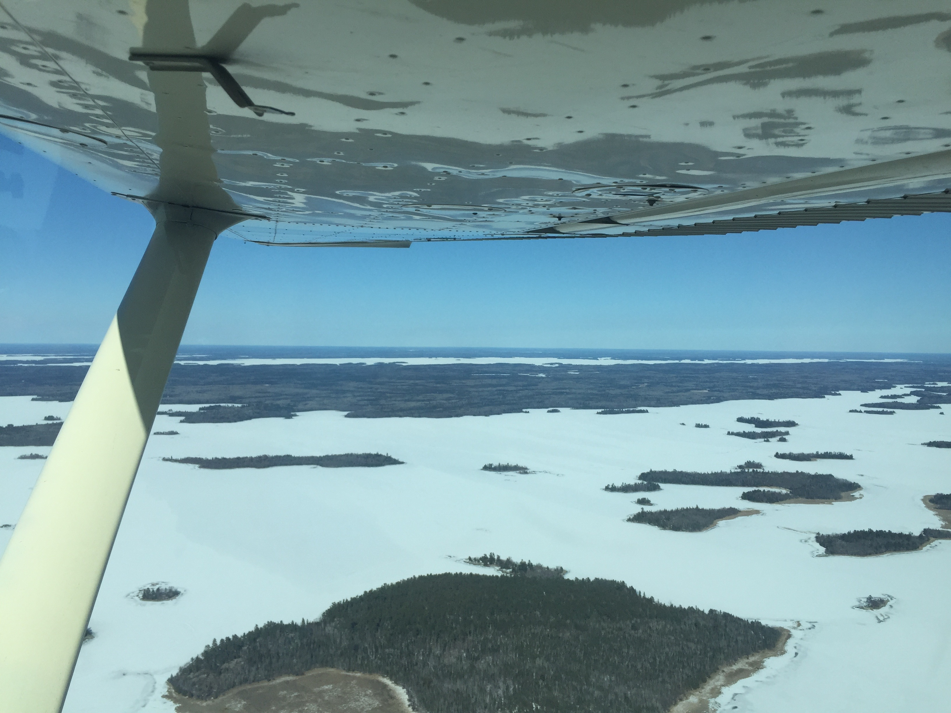 Spring Flying Over Frozen Lakes